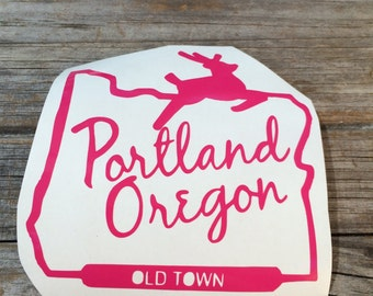 I Love Portland Vinyl Sticker Cool Hand Lettered Design - Custom vinyl decals portland oregon