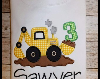 Construction Birthday Shirt ...Numbers 1-9..Personalized Construction Truck~Digger