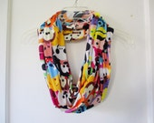 Tsum Tsum Colorful Print Jersey Knit Infinity Scarf
