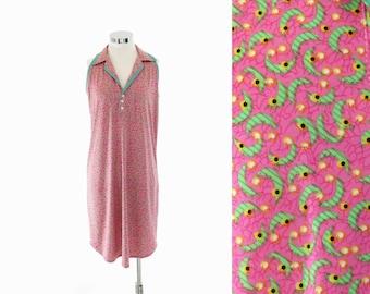 Britpop Dress Kawaii Dress Womens Summer Dress Pastel Goth House Dress Diner Dress Pink Green Dress Cyberpunk 90s Mini Dress Medium Large