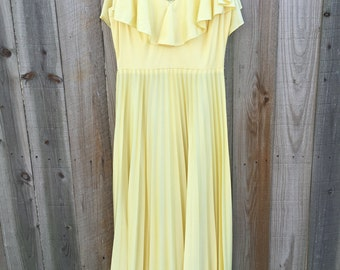 Vintage Yellow Handmade Gown