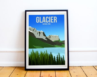 Glacier National Park - US National Parks - Art Print - (Available In Many Sizes)