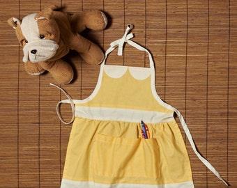 Children's Vintage Apron Yellow