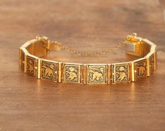 French bracelet - Golden bracelet - Mid century