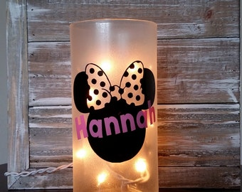 Minnie Mouse Personalized Lighted Decor/Bathroom/Bedroom/Girls