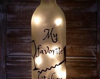 Kitchen Lighted Wine Bottle/Favorite Utensil