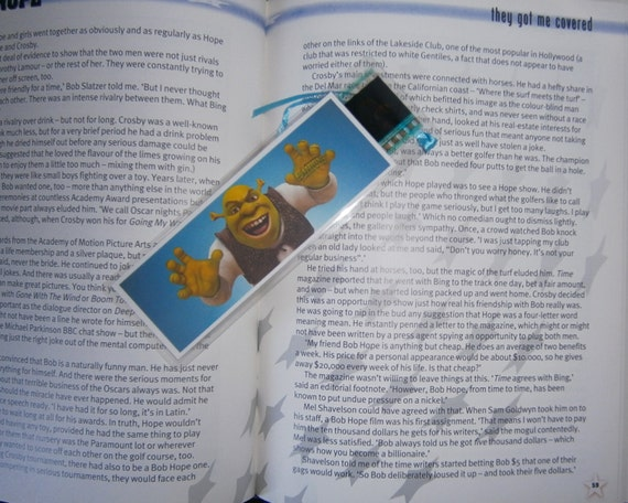 Shrek Forever After - Eddie Murphy Cameron Diaz Mike Myers Antonio Banderas - 35mm film cell bookmark New- Recycled