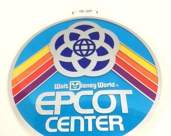 Epcot Center Vinyl Window Cling/Sticker Vintage 1982 from Walt Disney World