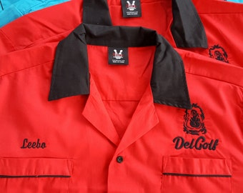 Bowling Shirt, custom embroidered, personalized