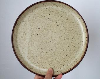 Handmade Stoneware Plate. Dinner Plate. Ceramic Plate. Cream Pottery Platter.