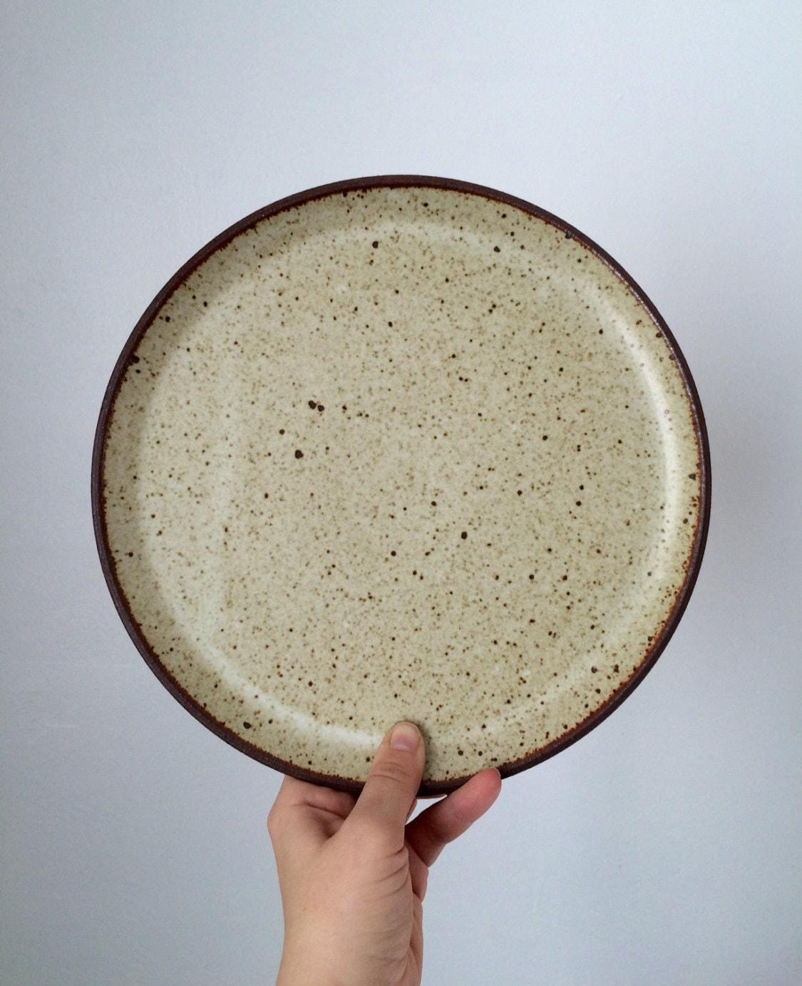 handmade stoneware plate dinner plate ceramic plate cream