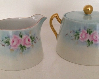 Vintage Sugar and Creamer Set from Austria