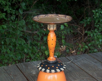 Fall Hand Painted Candle Holder