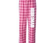 Bridesmaid Flannel Pajama Pants, bridal loungewear, bridal pjs, flannel pj pants, bridesmaid pjs, bridal pjs, bride pajamas, bridal pajamas