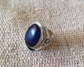 Dark Blue Amethyst Ring