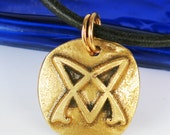 Gypsy Symbol of Truth Kiln-fired Fine Silver Pendant - Gypsy Rebel Nomad Symbol of Truth Fine Silver Pendant - Gypsy Free Spirit Charm Gift