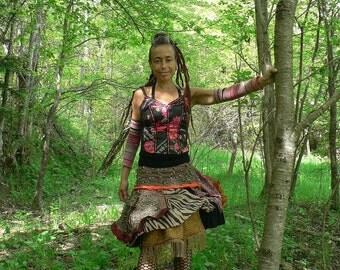 handmade boho ethnic skirt