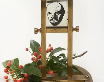 Lenin, leninism, propaganda sculpture, curio vintage object, Communism, communism decor,nightstand accessories,desk jewelry holder