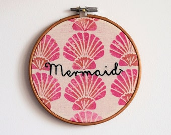 SALE - Mermaid Embroidery Hoop