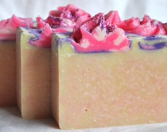 Handcrafted SOAP, PEACE Love & Happiness, Handmade Soap, Cold Process, Artisan Soap, Soap for women, valentines gift for mom, PLH185