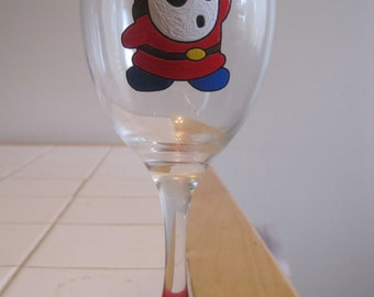 Shy Guy wine glass