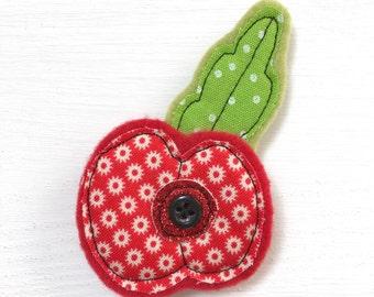 Handmade Poppy Brooch - Poppy Brooch - Poppy - Brooch - Poppy Pin - Poppy Brooch Gift - Brooch Gift - Poppy Appeal - Flower Brooch