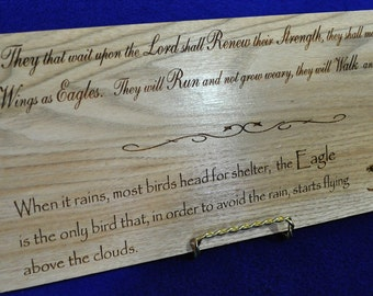 Sympathy Gift ~ Loss Of Parent ~ Memorial Plaque ~ Funeral Gift ~ Loss Of Friend ~ Encouragement Gift ~ Eagle Plaque ~ Eagle Gift ~ Memorial