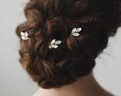 Gold Hair Pins | Opal Bridal Hair Pins | Gold Wedding Hair Accessories | Gold Crystal Hair Pins | Opal Nora Hair Pin