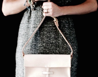 Cross Body Bag Leather with Tassel handmade in Australia using Vegetable Tanned Leather