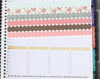 Souther Charm Large Scallops Stickers   Set of 16