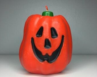SALE! vintage Halloween jack-o-lantern pumpkin candle