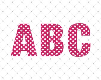 Polka Dot Font SVG cut files, Digital Font, Font for Cricut, Silhouette and other Vinyl Cutting Machines, Polka Dot Alphabet svg cut files