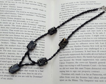 Black Lampwork Glass Feature Beaded Necklace