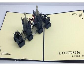 3D Pop Up London Tower Bridge Card