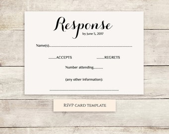 wedding reply card size