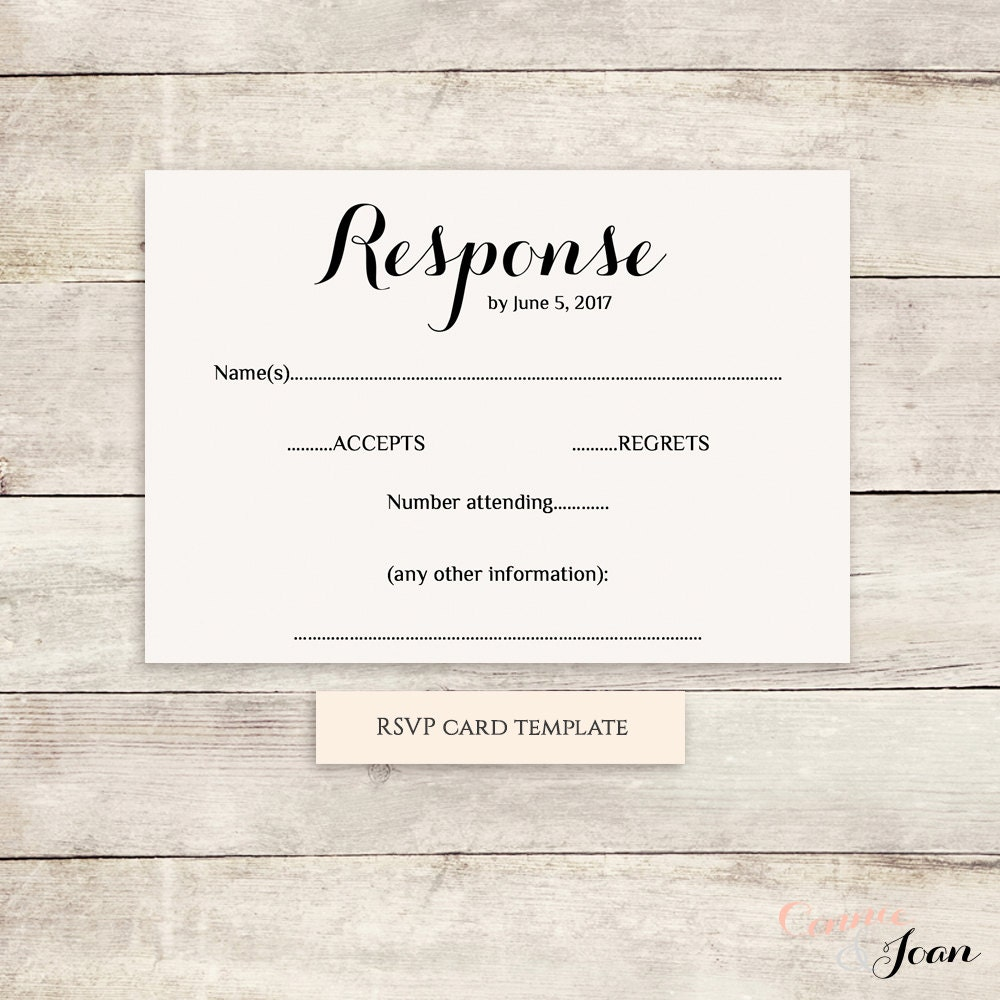 rsvp cards for weddings templates - printable wedding rsvp template rsvp card byron any