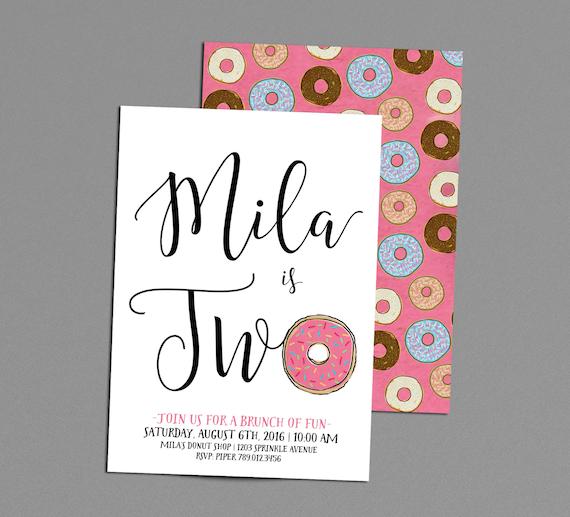 donut birthday invitation rise  u0026 shine it u0026 39 s by invitedbyaudriana