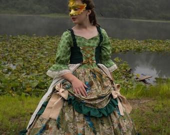 Girls Antebellum Gown / Girls Pre-Civil War Gown / Girls Southern Belle Gown / Duchess Gown