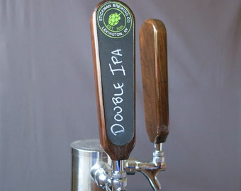 Personalized Beer Tap Handle, hardwood with graphic, 8 inches tall