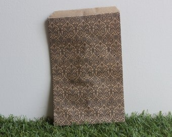Printed Kraft Paper Bag Small 10cm x 15cm 10pcs - Pattern 3