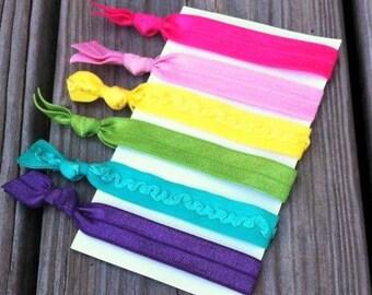 6 Piece Elastic Hair Tie Set