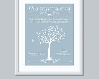 Printable Baptism Gift - Printable Christening gift - Boy Baby Christening Gift - Baby Dedication Gift - Printable Baby Art - Personalized