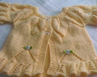 Leaf Lace Baby Cardigan