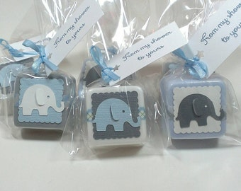 Baby shower favors, baby shower favors boy, elephant baby shower favors, blue baby shower favors Baby shower favor soaps