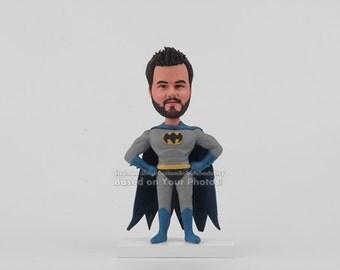Custom Batman bobblehead - Fathers Day Gift Husband Gift , Gift Ideas For husband,  Birthday Gift Ideas For husband, Gift for men