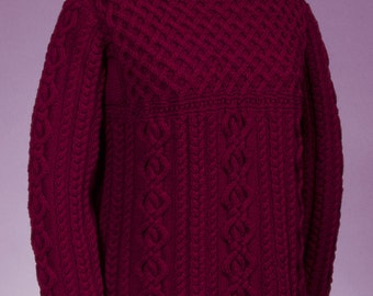 Cable and Lattice Pullover #130 PDF knitting PATTERN ONLY