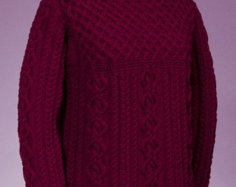 PDF Knitting Pattern Cable and Lattice Pullover #130