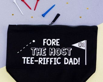 Golfers Canvas Wash Bag - Fathers Day Gift - Gifts for Dad - Super Dad - Superdad - Golfing - Golf - Squiffy Print