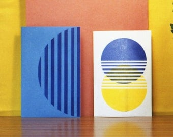 Riso Printed A5 Greetings Card and Envelope