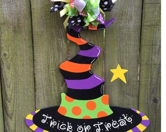 Halloween Door Hanger, Witch Door Hanger, Halloween Wreath, Halloween Decorations, Witch Wreath